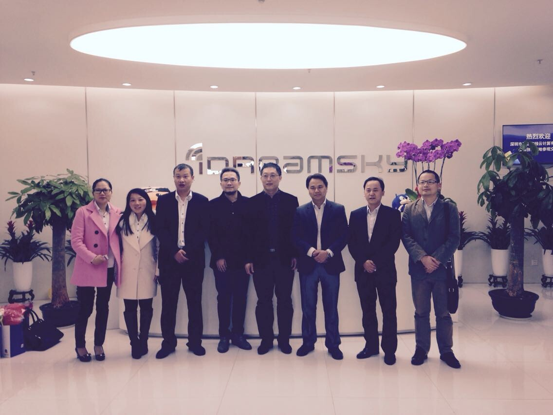 互联在线管理团队参观纳斯达克上市企业乐逗游戏