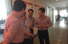 杭州市经济开发区领导来互联在线视察工作