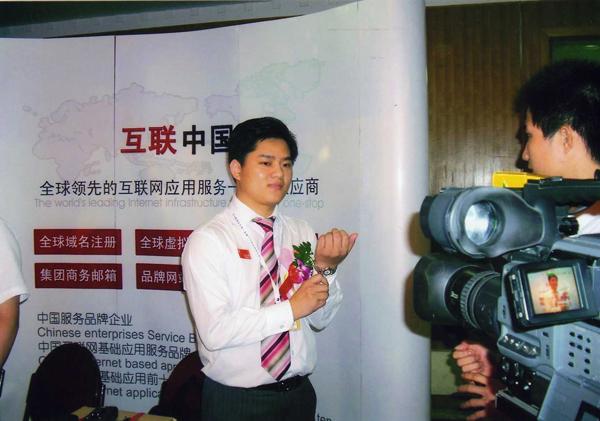 互联中国总经理周明接受媒体采访